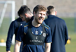 St Johnstone Training….26.02.19   <br />David Wotherspoon pictured during training this morning at McDiarmid Park ahead of tomorrow's game against Hibs.<br />Picture by Graeme Hart.<br />Copyright Perthshire Picture Agency<br />Tel: 01738 623350  Mobile: 07990 594431