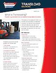 Advertising brochure for California Cartage warehouse facility