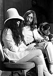 John Lennon and Yoko Ono 1969 at London Heathrow Airport