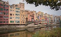 The landmark houses of Girona/Spain
