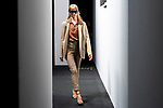 A model prepares backstage for 'Roberto Torreta' fashion show during Mercedes-Benz Madrid Fashion Week in Madrid, Spain. July 09, 2018. (ALTERPHOTOS/Borja B.Hojas)