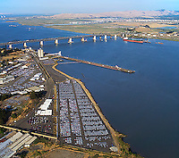 aerial photograph Port of Benicia, Contra Costa County, California