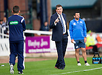 Dundee v St Johnstone...15.08.15  SPFL   Dens Park, Dundee<br /> Tommy Wright has words with 4th official Andrew Dallas<br /> Picture by Graeme Hart.<br /> Copyright Perthshire Picture Agency<br /> Tel: 01738 623350  Mobile: 07990 594431