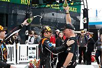 IMSA Continental Tire SportsCar Challenge<br /> BMW Endurance Challenge at Daytona<br /> Daytona Beach, Florida, USA<br /> Friday 26 January 2018<br /> #77 Compass Racing, Audi RS3 LMS TCR, TCR: Britt Casey Jr, Tom Long, champagne<br /> World Copyright: Michael L. Levitt<br /> LAT Images<br /> <br /> ref: Digital Image _01I7455