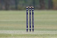 The stumps during Rainham CC (batting) vs South Woodford CC, Hamro Foundation Essex League Cricket at Spring Farm Park on 1st May 2021