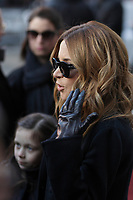 Julie Snyder<br />  attend the funeral of Rene Angelil, , Friday Jan. 22, 2016 at Notre-Dame Basilica in Montreal, Canada.<br /> <br /> She is divorcing her husband Pierre-Karl Peladeau, 6 months after their wedding.<br /> <br /> <br /> <br /> <br /> <br /> <br /> <br /> <br /> <br /> <br /> <br /> <br /> .<br /> <br /> <br /> <br /> Photo : Agence Quebec Presse<br /> <br /> <br /> <br /> <br /> <br /> <br /> <br /> <br /> <br /> .
