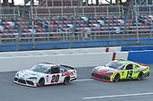 #20: Harrison Burton, Joe Gibbs Racing, Toyota Supra Morton Buildings/DEX Imaging, #19: Brandon Jones, Joe Gibbs Racing, Toyota Supra Menards/Atlas