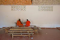 Monks having their 11 o'clock break at a Monastery near Dambulla,Sri Lanka.