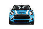 Car photography straight front view of a 2017 MINI Cooper S 5 Door Hatchback Front View
