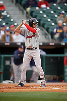 Pawtucket Red Sox shortstop Ryan Court (2) bats during a game against the Buffalo Bisons on May 19, 2017 at Coca-Cola Field in Buffalo, New York.  Buffalo defeated Pawtucket 7-5 in thirteen innings.  (Mike Janes/Four Seam Images)