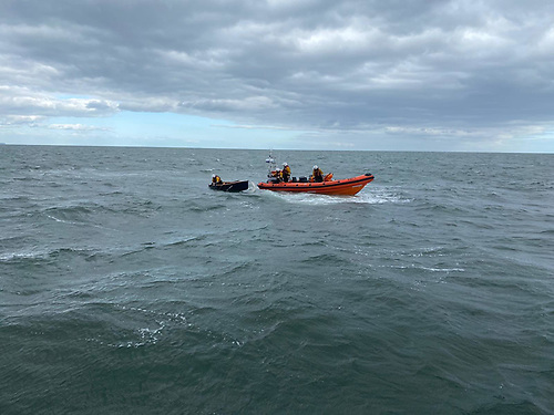 The five GP14 sailors involved were all wearing lifejackets, they had a personal locator beacon, which activated when they entered the water and they also had a mobile phone, which they used to call the emergency services