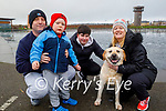 Shane Lacey, James O'Donnell, John and Emma Lacey and Milo the dog enjoying a stroll in the Tralee Bay Wetlands on Sunday.