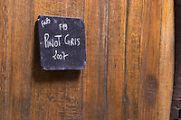 pinot gris sign on tank 2007 dom. louis sipp ribeauville alsace france