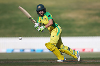 4th April 2021; Bay Oval, Taurange, New Zealand;  Australia's Alyssa Healy plays a shot during the 1st women's ODI White Ferns versus Australia Rose Bowl cricket match at Bay Oval in Tauranga.