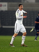 Pictured: Adnan Maric of Swansea Monday 30 March 2015<br /> Re: U21 Professional Development League 2, Swansea City AFC v Leeds United FC at the Liberty Stadium.