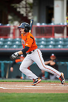 Bowie Baysox second baseman Tucker Nathans (6) during a game against the Erie SeaWolves on May 12, 2016 at Jerry Uht Park in Erie, Pennsylvania.  Bowie defeated Erie 6-5.  (Mike Janes/Four Seam Images)