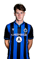 20th August 2020, Brugge, Belgium;  Thibo Baeten pictured during the team photo shoot of Club Brugge NXT prior the Proximus league football season 2020 - 2021 at the Belfius Base camp