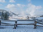 Snow turns Yellowstone into a winter wonderland.