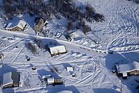 Aerial of Bill Pinkham on Road into Nulato