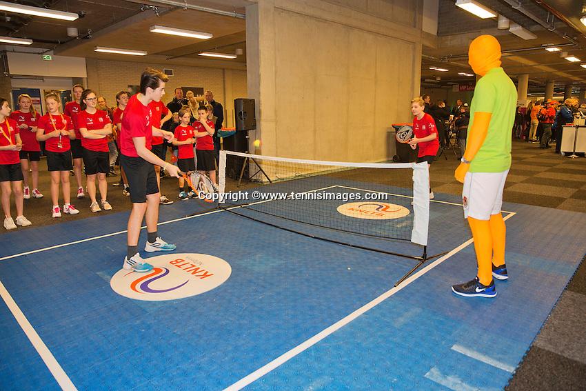 Februari 08, 2015, Apeldoorn, Omnisport, Fed Cup, Netherlands-Slovakia, Supporters<br /> Photo: Tennisimages/Henk Koster
