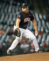 Texas Tech Red Raider Jay Johnson against Rice on Saturday March 6th, 2100 at the Astros College Classic in Houston's Minute Maid Park.  (Photo by Andrew Woolley / Four Seam Images)