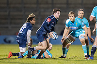 8th January 2021; AJ Bell Stadium, Salford, Lancashire, England; English Premiership Rugby, Sale Sharks versus Worcester Warriors; Tom Curry of Sale Sharks passes the ball