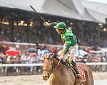 # 1 Dunbar Road wins the Alabama Stakes(gr 1) ridden by Jose Ortiz, trained by Chad Brown Aug. 17, 2019 :during racing at Saratoga Race Course in Saratoga Springs, New York. Robert Simmons/Eclipse Sportswire/CSM
