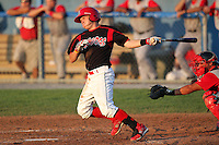 Batavia Muckdogs Matt Valaika (8) during a game vs. the Lowell Spinners at Dwyer Stadium in Batavia, New York July 16, 2010.   Batavia defeated Lowell 5-4 with a walk off RBI single in the bottom of the 9th inning.  Photo By Mike Janes/Four Seam Images