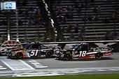 #51: Spencer Davis, Kyle Busch Motorsports, Toyota Tundra JBL/SiriusXM, #18: Noah Gragson, Kyle Busch Motorsports, Toyota Tundra Safelite AutoGlass