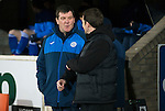 St Johnstone v Partick Thistle…02.03.16  SPFL McDiarmid Park, Perth<br />Tommy Wright and Alan Archibald talk to each other before kick off<br />Picture by Graeme Hart.<br />Copyright Perthshire Picture Agency<br />Tel: 01738 623350  Mobile: 07990 594431