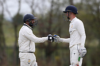 A useful partnership by the Rainham opening batsmen during Rainham CC (batting) vs South Woodford CC, Hamro Foundation Essex League Cricket at Spring Farm Park on 1st May 2021