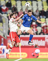 Danzica Nations League Gruppo A Polonia Italia Football - UEFA Nations League group A match Poland - Italy N/Z BARTOSZ BERESZYNSKI ALESSANDRO FLORENZI FOT MATEUSZ SLODKOWSKI / FOTONEWS / NEWSPIX.PL --- Newspix.pl PUBLICATIONxNOTxINxPOL 20201011FNMS126 <br /> ITALY ONLY