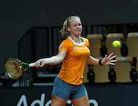 2016, 12 April, Arena Loire, Trélazè,  Semifinal FedCup, France-Netherlands, Kiki Bertens (NED)<br /> Photo:Tennisimages/Henk Koster
