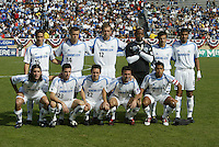 24 October 2004: Kansas City Wizards' starting line-up before the game against Earthquakes at Spartan Stadium in San Jose, California.   Earthquakes defeated Wizards, 2-0.  Credit: Michael Pimentel / ISI