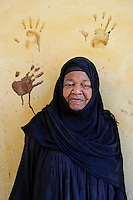 Kupa, Nubian woman at her home   <br /> Betlekerem, Aswan, Egypt 2009 .