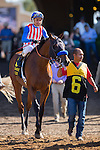 DEL MAR,CA-SEPTEMBER 05: Klimt,ridden by Rafael Bejarano,is preparing for the Del Mar Futurity at Del Mar Race Track on September 05,2016 in Del Mar,California (Photo by Kaz Ishida/Eclipse Sportswire/Getty Images)