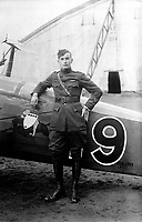 American pilot, 91st Aero Squadron, France, February 1919.  Air Service Photographic Section.  (Army Air Forces)<br /> Exact Date Shot Unknown<br /> NARA FILE #:  018-E-5228<br /> WAR & CONFLICT BOOK #:  595