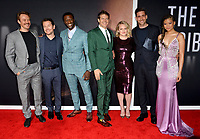 "LOS ANGELES, CA: 24, 2020: Michael Dorman, Leigh Whannell, Aldis Hodge, Jason Blum, Elisabeth Moss, Oliver Jackson-Cohen & Storm Reid, at the premiere of ""The Invisible Man"" at the TCL Chinese Theatre.<br /> Picture: Paul Smith/Featureflash"