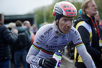 Rui Costa (POR/Lampre-Merida) after finishing 3rd at the 102nd Liège-Bastogne-Liège 2016