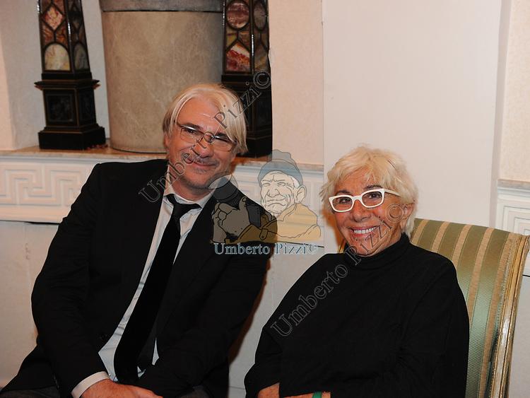 RICKY TOGNAZZI CON LINA WERTMULLER<br /> FESTA DEGLI 80 ANNI DI MARTA MARZOTTO<br /> CASA CARRARO ROMA 2011