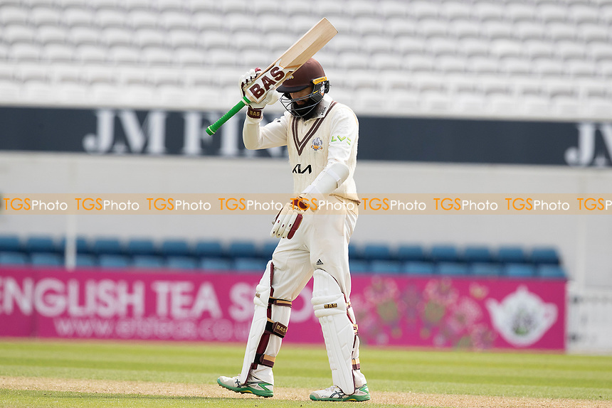 Hashim Amla acknowledges his 150 during Surrey CCC vs Hampshire CCC, LV Insurance County Championship Group 2 Cricket at the Kia Oval on 30th April 2021