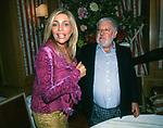 """MARA VENIER CON PAOLO VILLAGGIO<br /> FESTA PER  IL FILM """"FANTOZZI 2000"""" AL CLUBINO DEL JACKIE O' ROMA 1999"""