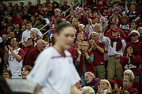 FRESNO, CA--Cardinal fans show their support for Stanford en route to a 81-69 win over Duke at the Save Mart Center for the West Regionals Championship of the 2012 NCAA Championships. The Cardinal advances to the Final Four in Denver, facing Baylor in the semifinals.
