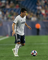 FOXBOROUGH, MA - JUNE 27: Ilsinho #25 looks to pass during a game between Philadelphia Union and New England Revolution at Gillette Stadium on June 27, 2019 in Foxborough, Massachusetts.