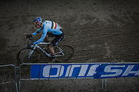 Wout Van Aert (BEL/Crelan Charles) leading the race.<br /> <br /> Men Elite Race<br /> UCI CX Worlds 2018<br /> Valkenburg - The Netherlands