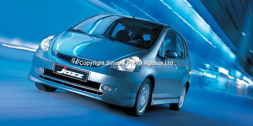 Honda Jazz car. Guangzhou Honda Automobile Co., Ltd. was established on 1, July 1998, joint-ventured between Guangzhou Automobile Group and Honda Motor Co. Ltd.