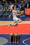 Cajasol Sevilla's Tomas Satoransky winner in the dunk contest during ACB Supercup Final match.September 25,2010. (ALTERPHOTOS/Acero)