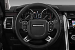 Car pictures of steering wheel view of a 2018 Land Rover Discovery HSE 5 Door SUV