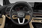 Car pictures of steering wheel view of a 2021 Audi Q5-Sportback Premium 5 Door SUV Steering Wheel