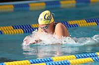 BERKELEY, CA - December 21, 2016: Cal Bears Women's Swimming team vs. the San Jose State Spartans at Spieker Aquatics Complex.  Final score, Cal Bears 178, San Jose State Spartans 113.
